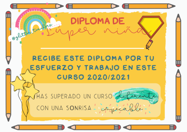 Recurso Diplomas del curso Sandra Alguacil